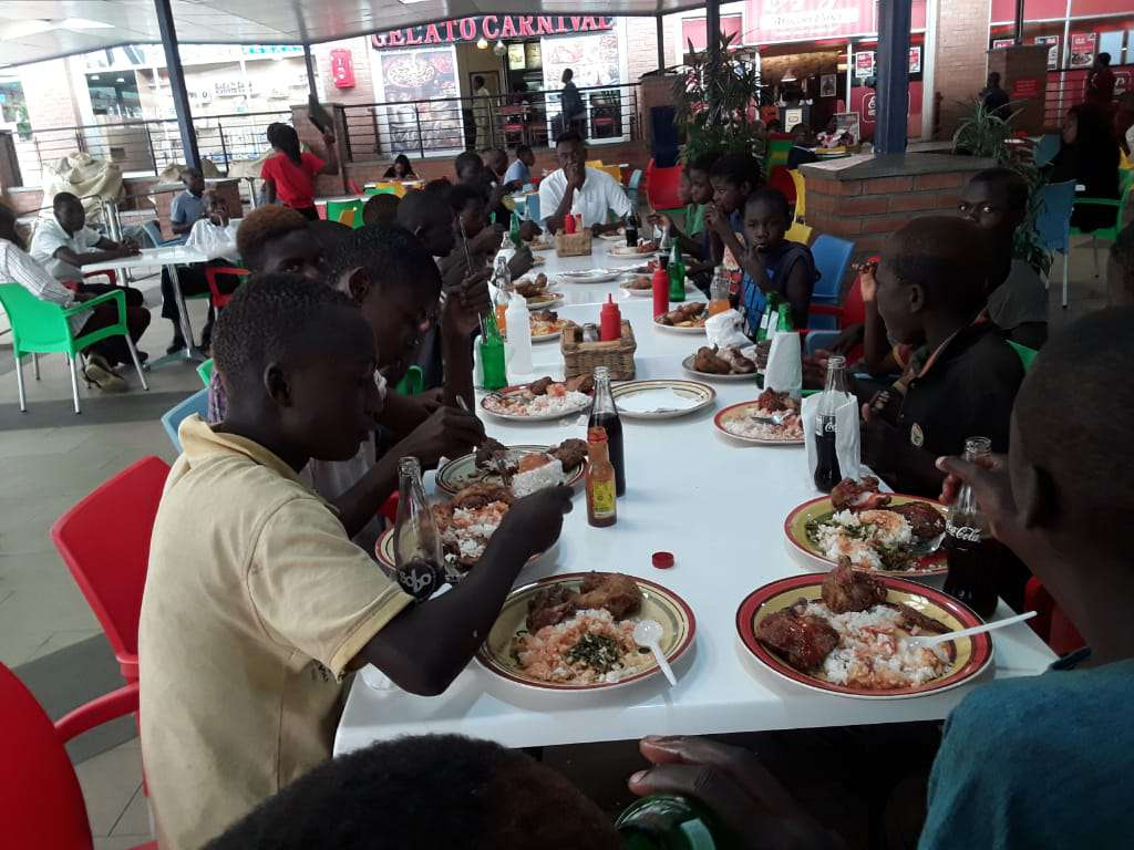 Chisale feasts with street kids at kips