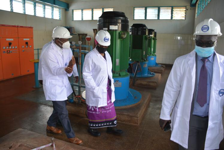 Minister Nancy Tembo tours LL water board