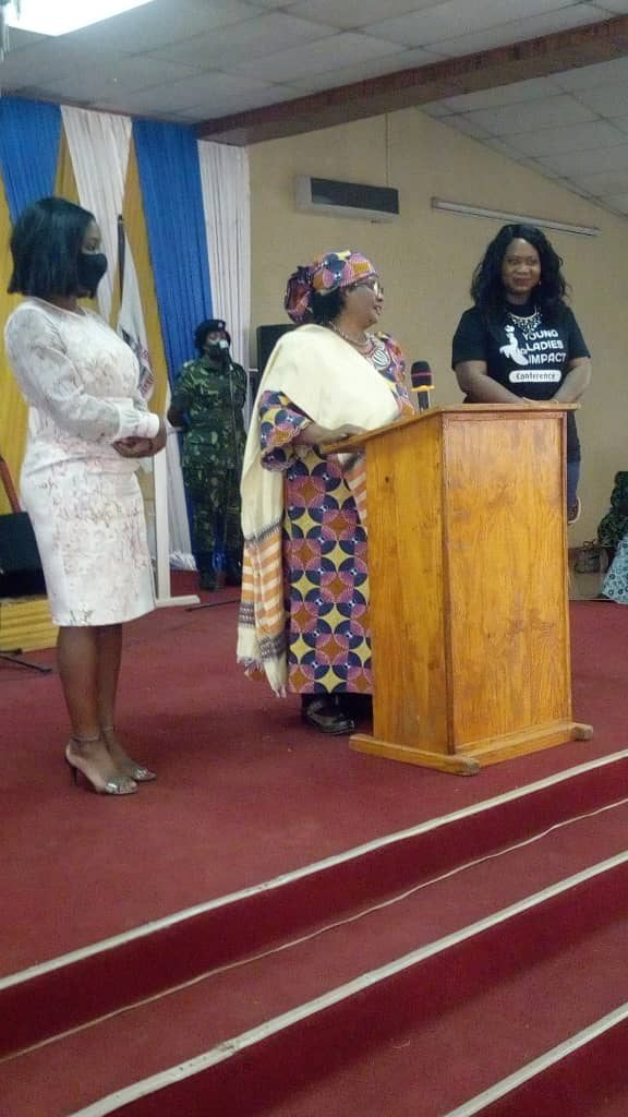 JB mesmerises at a women's conference in Lilongwe