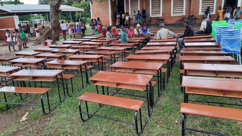 MP Dimba handovers K5Million chairs and desks at Mphunzi Primary