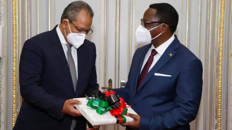 President Chakwera receive letters of credence from Egyptian Ambassador